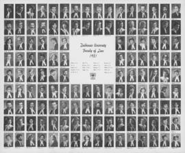Composite photograph of the Dalhousie University faculty of law graduates of 1981