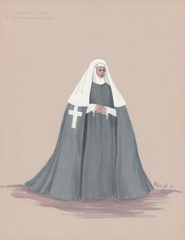 Costume design for the Nun