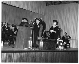 Photograph from the opening convocation of the Tupper Building