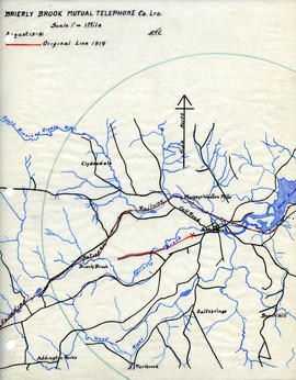 Maps of Brierly Brook Mutual Telephone Company's telephone line
