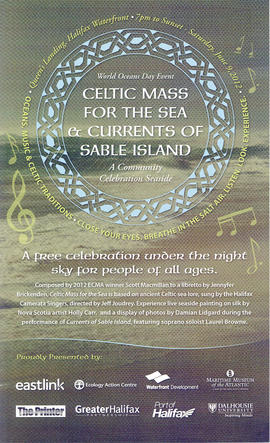 Celtic mass for the sea and currents of Sable Island : a community celebration seaside : [poster]
