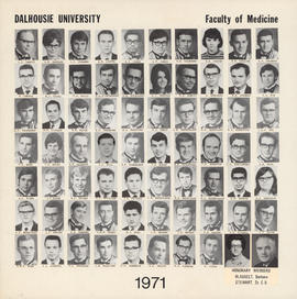 Composite photograph of the Faculty of Medicine - Class of 1971