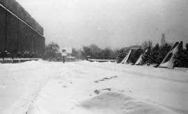 Photograph of a walkway near the Killam Library in the winter