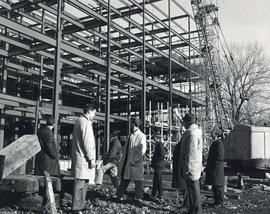 Photograph of the Weldon Law Building construction