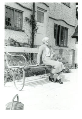 Photograph of Aunt Jessie Raddall at Chorleywood, Hertfordshire, England