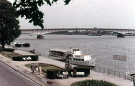 Photograph of a bridge on the Rhine waterfront