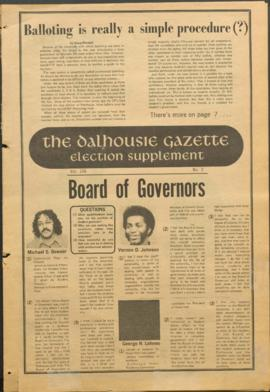 The Dalhousie Gazette, Volume 106, Issue 2, Election Supplement