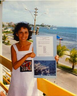 Photograph of Gloria Zuleta Rodriguez on the waterfront