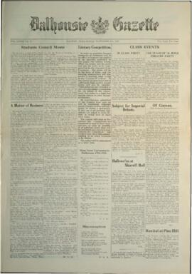 Dalhousie Gazette, Volume 58, Issue 3