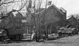 Photograph of construction at Shirreff Hall