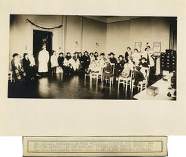Photograph of Massachusetts-Halifax Health Commission - The general waiting room with patients