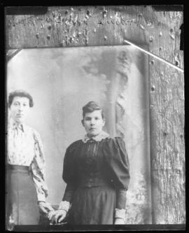 Photograph of Miss Woodin & a friend