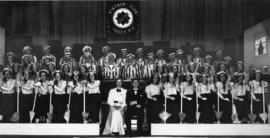 Photograph of the cast of the Number Please ministrel review