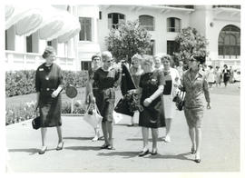 Photograph of Board Members Returning to Hotel Royal, International Council of Nurses - Evian, Fr...