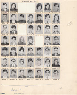 Composite photograph of the Faculty of Medicine - Second Year Class, 1971-1972 (MacDonald to Zilb...