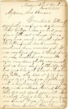 Letters from Rev. James Rosborough to Mrs. Pearson