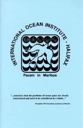 Brochure from the International Ocean Institute