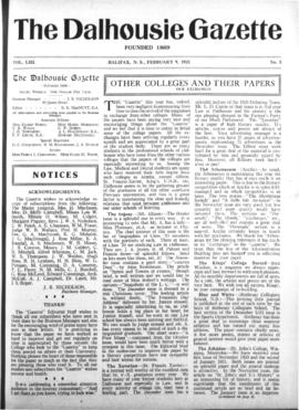 The Dalhousie Gazette, Volume 53, Issue 5
