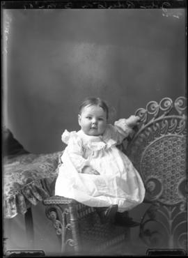 Photograph of the baby of John Robertson