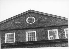 Photograph of windows on the Henry Hicks Arts & Administration Building