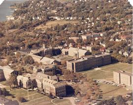 Aerial photograph of King's College