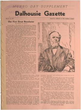 Dalhousie Gazette, Volume 76, Munro Day Supplement