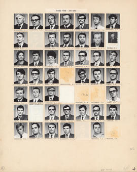 Composite photograph of the Faculty of Medicine - Third Year Class, 1971-1972 (Alexander to McGuire)