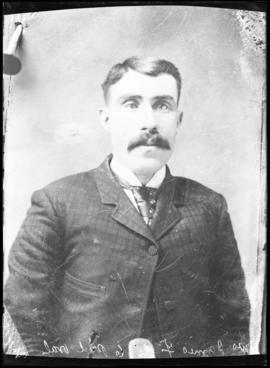 Photograph of an unknown man taken for Mrs. James Foote