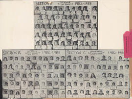 Composite photograph of sections A-C of the Dalhousie Law School class of 1982-1983