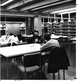 Photograph of a stack reading area in the Killam Memorial Library