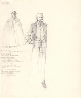 Costume design for Trigorin
