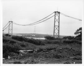 Photograph of the MacKay Bridge during construction