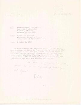 Correspondence between Elisabeth Mann Borgese and Kozak, Schwartz and Co.