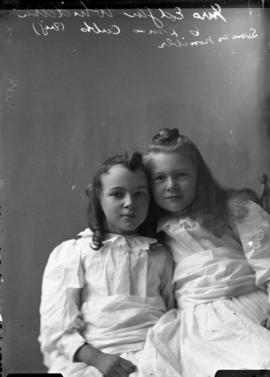 Photograph of Mrs. Edgar Whidden's daughters