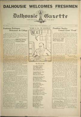 Dalhousie Gazette, Volume 68, Issue 1