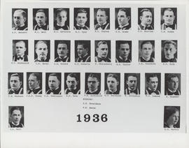 Faculty of Medicine Class Photograph - 1936