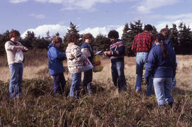 Photograph of Bill Freedman and others at Brier Island, Nova Scotia