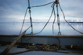 Photograph of rigging on a boat on Frobisher Bay