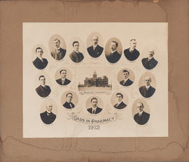 Composite photograph of the Dalhousie University class in pharmacy of 1912