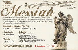 The Messiah with Symphony Nova Scotia conducted by Ivars Taurins : [poster]