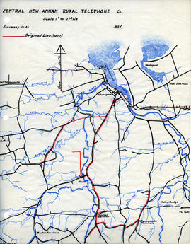 Maps of Central New Annan Rural Telephone Company's telephone line