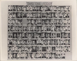 Photograph of Faculty of Law third year class of 1970-71