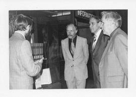 Photograph of Gayle Garlock, Dr. Friederich W. Gaede, Dr. Philipp Schmidt-Schlegel, and Dr. Donal...