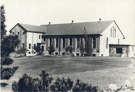 Photograph of the exterior of the Studley Gymnasium