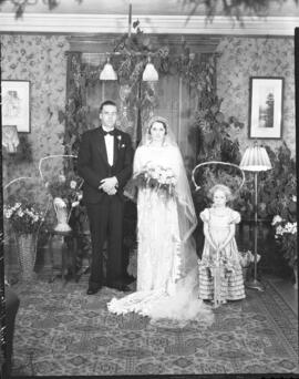Photograph from the wedding of Mrs. Keith [F??cton] (Henderson)