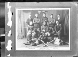 Photograph of the St. Francis Xavier University commercial hockey team