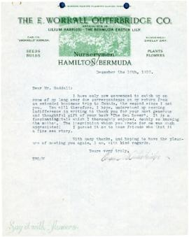 Correspondence between Thomas Head Raddall and Eugene W. Outerbridge