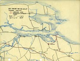 Map of East Wallace Mutual Telephone Company's telephone line