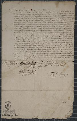 Agreement concerning land grants in New Plymouth, signed by Hamilton, Arundell and Surrey, F. Car...