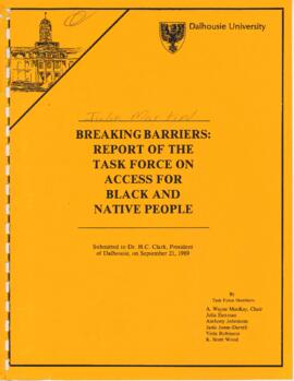 Breaking barriers : report of the task force on access for Black and Native People